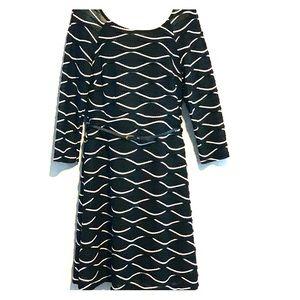 eci New York Dress Size 10 Black/ white